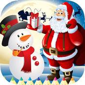 填色本 圣诞: 油漆 圣诞老人,礼品,雪人 1