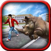 终极犀牛模拟器 - 动物生存游戏 1