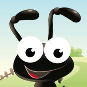 儿童游戏2-5岁左右的森林昆虫。游戏和拼图的幼儿园,学前班