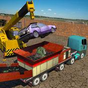 怪兽车破碎机起重机:垃圾车模拟器 Car Crusher Truck Simul
