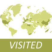 去过哪儿 - 世界版,足迹地图,Visited Countries Map,World