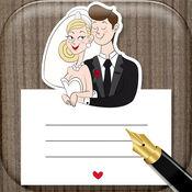 婚礼邀请卡 – 亮丽的名片设计和问候各种场合