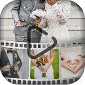 婚礼 相片 幻灯片 创建 短 视频