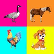 农场动物 - 孩子们的学习记忆游戏 1.0.0