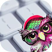 猫头鹰表情符号键盘 - 可爱的键盘字体和布局 1