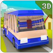 上坡巴士驾驶疯狂 - 块状转运模拟游戏 1