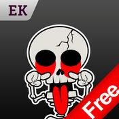 Emoji Kingdom 13 免费骷髅头骨万圣节动态表情符号支持  i