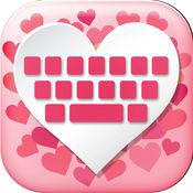 爱 键盘 - 可爱的 粉红色 键盘 女孩 同 多彩 闪光 背景 1