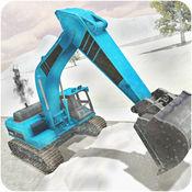 大雪挖掘机模拟器 - 犁卡车救援任务 1