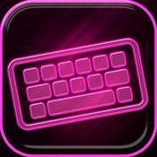 霓虹粉色键盘 – 惊人的字体和背景与表情符号为iPhone 1