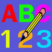 寫 字母 ABC 和 數字 - 寫作 對於 孩子們 1.0.1