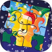 圣诞智力游戏 | 圣诞丛林动物拼图 5