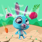 有趣的兔子 跳跃...