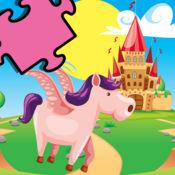 免費兒童遊戲邏輯和形式的Erlenen - 在童話般的土地,馬拼圖