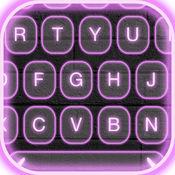 霓虹灯 LED 键盘 主题 -  键盘 颜色 同 发光 背景 和 字形