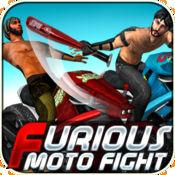 愤怒的摩托战斗 - 皮疹车友做特技,赛车和战斗的道路(免费3D