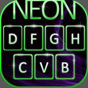 霓虹色键 - 拉皮条 你的 键盘的 同 发光的皮肤, 可爱的字体