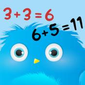 Furry Math Friends - 数学的儿童游戏。学习代数,计算和另