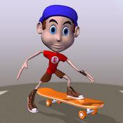 时髦的滑板少年赛车冒险亲 1.4