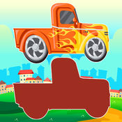 汽車 陰影 比賽 拖動 & 降 技能 對於 兒童 1