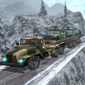 陆军重型卡车运输货物-雪驾驶 3D 1