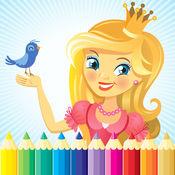 公主与童话图画书 - 所有在1绘画,油漆颜色游戏高清对于好孩