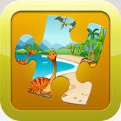 恐龙游戏为孩子们免费可爱恐龙火车拼图学前幼儿 1