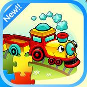 可爱的火车拼图游戏-Train和朋友 1