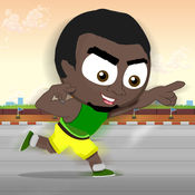 竞技里约热内卢夏季运动二○一六年:博尔特润迈向冲刺终点线