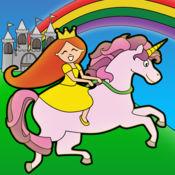 公主的童话着色仙境,儿童与家庭学前免费版 Princess Fairy Tale Coloring Wonderland for Kids and Family Preschool Free Edit