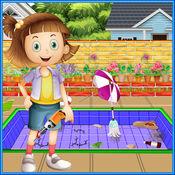 艾玛家庭游泳池:维修和清理游戏 1