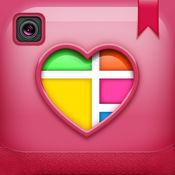 爱拼贴制造商-照片编辑器: 美丽的相框和相机效果的照片装饰