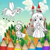 公主孩子着色-为学龄前儿童学习游戏 1.0.0