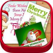 圣诞平安夜、 圣诞节、 问候、 圣诞节、 卡片、 明信片、