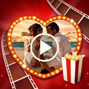 爱情 幻灯片制作 图片到视频 与音乐 自由帧 和 贴纸 1