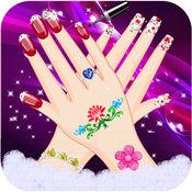公主指甲水疗沙龙美容时尚女孩游戏 2