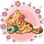 猫 幼儿颜色 可愛的小貓咪圖畫書為孩子 益智小游戏 中小学