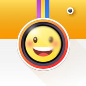 Emoji表情相机 - 自动识别人脸,添加emoji表情,自拍搞怪照相