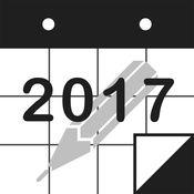 PolyCalendar 2017 - 时间表和手写 - 4.5