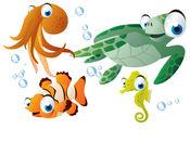 鱼 貼紙 1