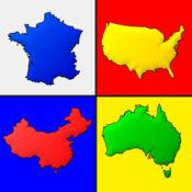 世界各国的地图 - 地理测验 2