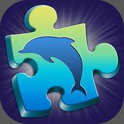 海豚 拼图游戏 好玩 - 魔术益智游戏为孩子们用美丽的大海