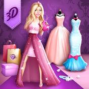 舞会礼服时装设计师: 时装工作室设计的时尚服装和礼服优雅