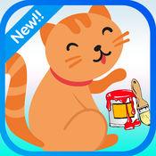 猫和小猫的图画书为孩子和幼儿 1