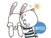 兔子和猫的爱 - MYOSE - 让你自己的表情贴纸 2