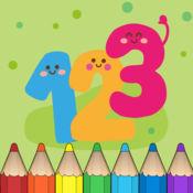 123 图画书 : 学会数数1-10的幼儿园,学前班或幼儿园与农民,