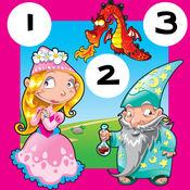 免费学习任务到十数:123数学游戏,仙境与公主儿童 1