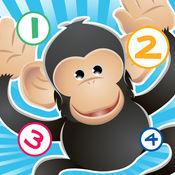 123游戏儿童2-5岁左右的野生动物园的动物: 学习数 数字1-10