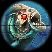 饥饿的比拉鱼狩猎 - 鲨鱼矛捕鱼世界 1