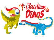 Christmas Dinos Big Eye Collection 貼紙 1